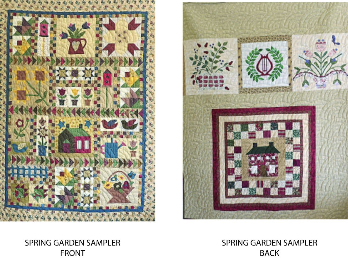 SPRING GARDEN SAMPLER FRONT AND BACK